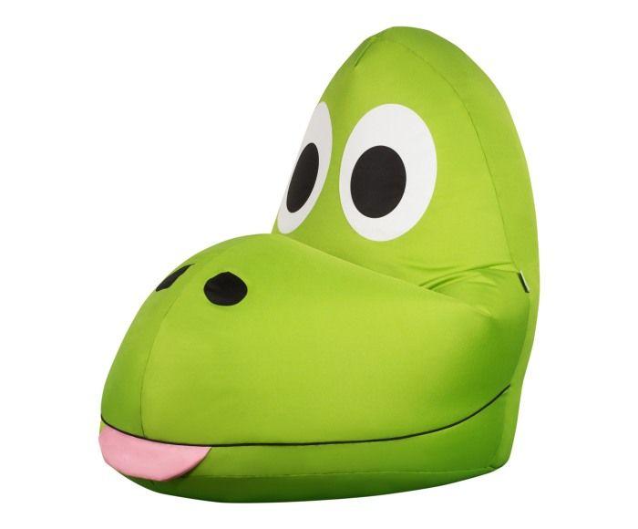 pouf pour enfant t rex vert et rose l60 beanbags and. Black Bedroom Furniture Sets. Home Design Ideas