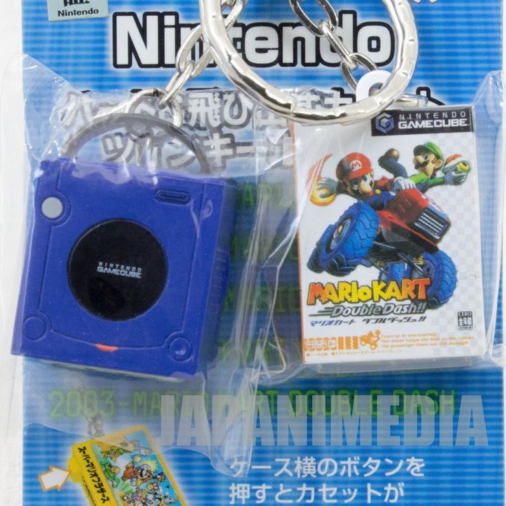 Nintendo Game Console Miniature Figure Key Chain Game Cube & Mario Cart JAPAN