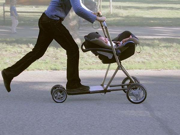 1.) Get a baby stroller/scooter to make walks through the park a little more fun