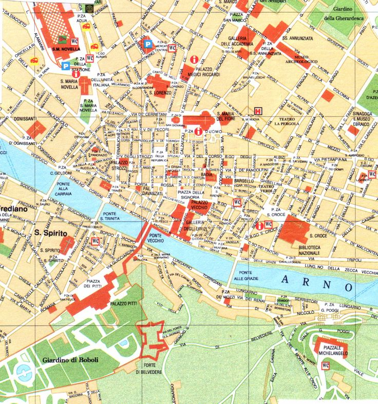 FLORENCE CITY MAP - Google Search | Travel maps | Map of florence italy, Italy map, Florence city