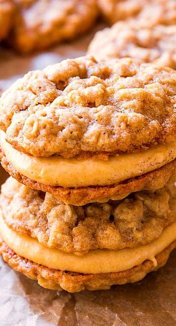 Oatmeal pumpkin creme pies. @sallybakeblog
