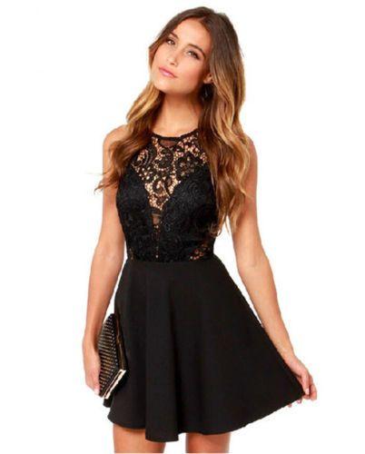 LM Boutique Sale New Sexy Black Lace Dress Small 2 Day b2e293ca9db5