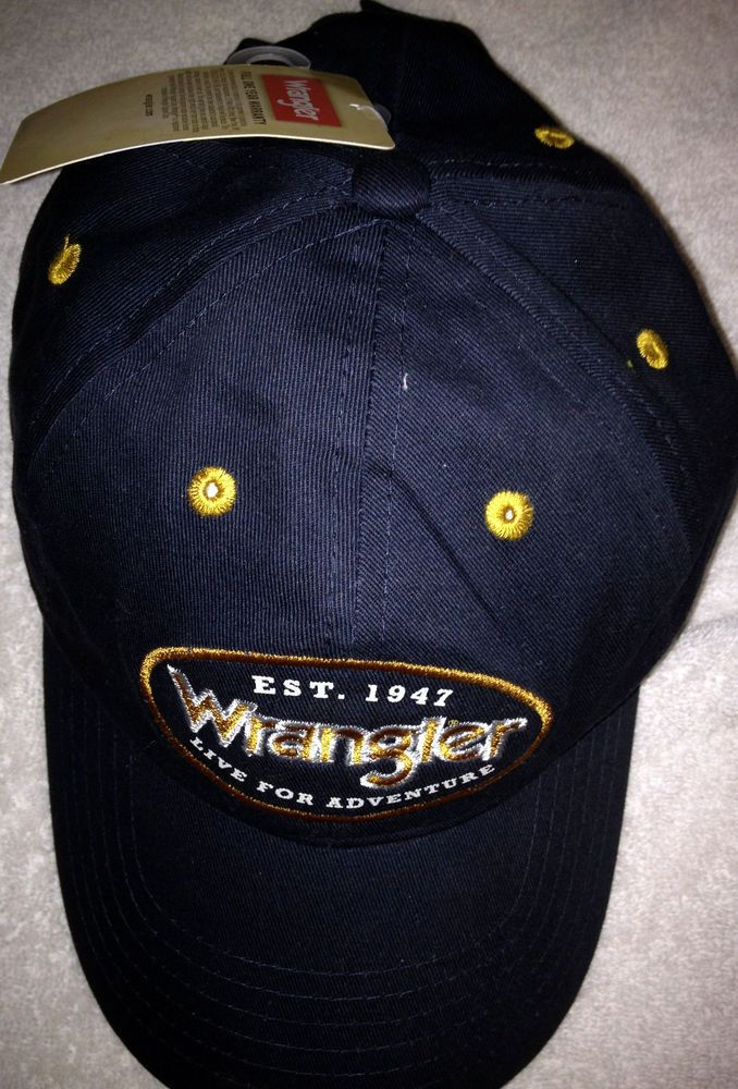 8744417b74168 WRANGLER LIVE FOR ADVENTURE EST 1947 ADULT CAP HAT NEW WITH TAG FREE  SHIPPING
