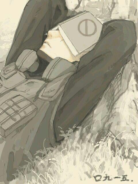anime - naruto shippuden - hatake kakashi - fanart
