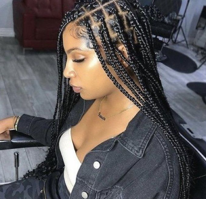 Xs Small Knotless Braids Knotle Braided Hairstyles Box Braids Hairstyles For Black Women Box Braids Styling