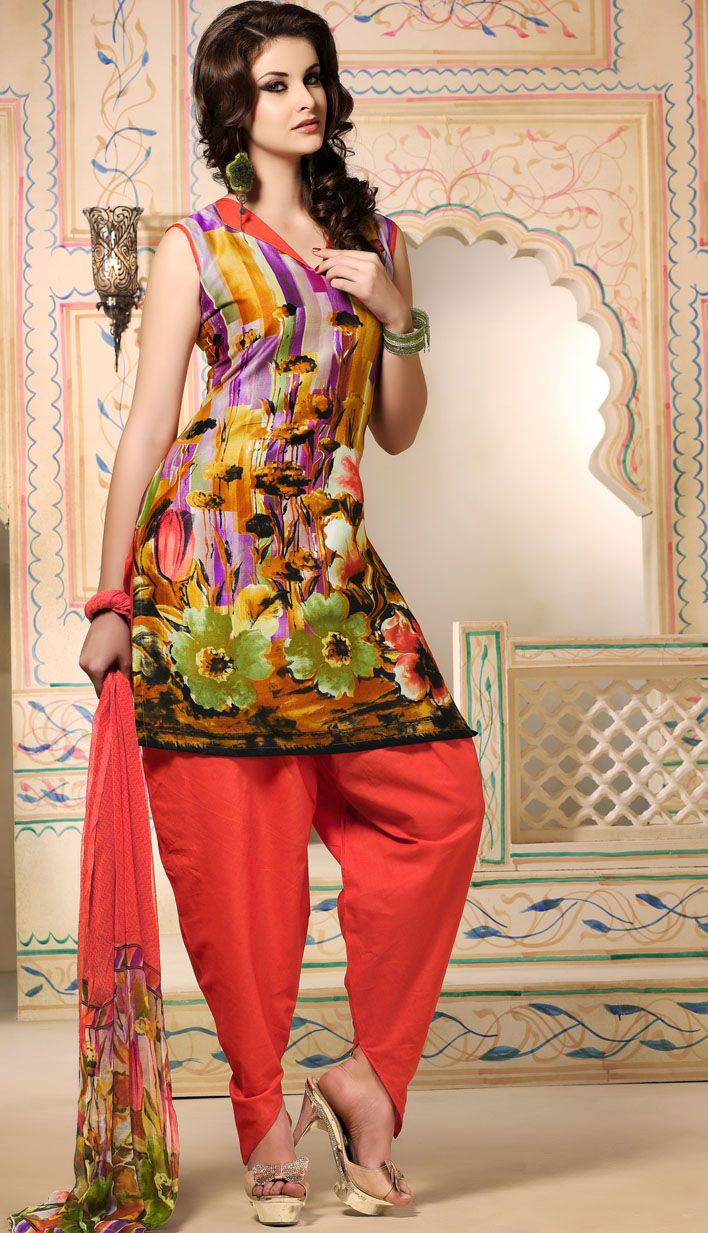 Get Latest Mustard Crepe Salwar #Printed Suit Online with Great Collection.  #Price INR- 1586 Link-  http://alturl.com/kse7s