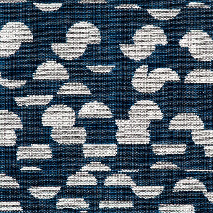 Cut Up Dot Fabric in Navy