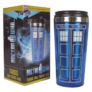 Doctor Who TARDIS 16 oz. Travel Mug from Bif Bang Pow! Disc: Affiliate Link