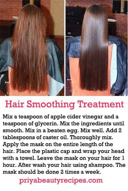 Hair smoothening..