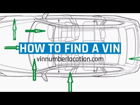 Vin Number Locations How To Find A Chassis Vin Number On Vehicles