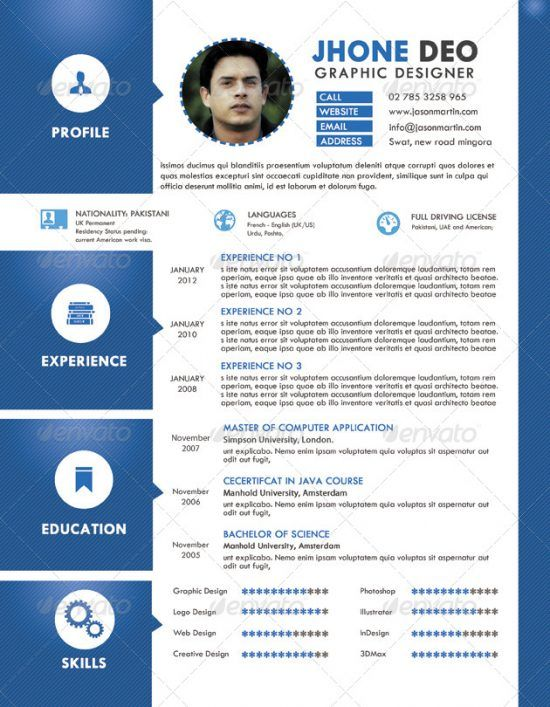 25+ Best Creative Resume For Graphic Designers (PSD File U0026 Ideas With  Examples)  Best Creative Resumes