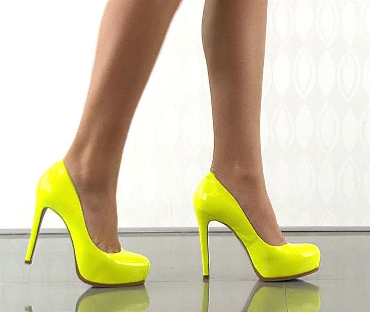 bright yellow heels ha heel