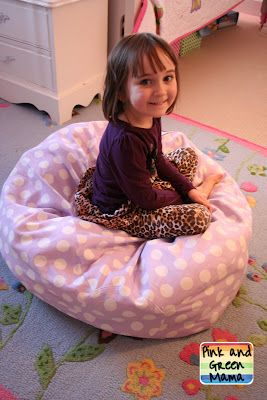 Why didn't I think of this? I've seen those hideous bean bag storage systems for stuffed animals, but this smart blogger ordered a cute bean bag cover from PBK and just stuffs them in that! Again, why did I not think of this?!