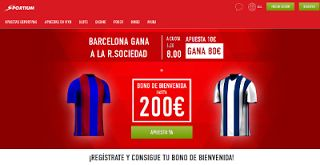 el forero jrvm y todos los bonos de deportes: Supercuota 8 Sportium Barcelona vs Real Sociedad +...