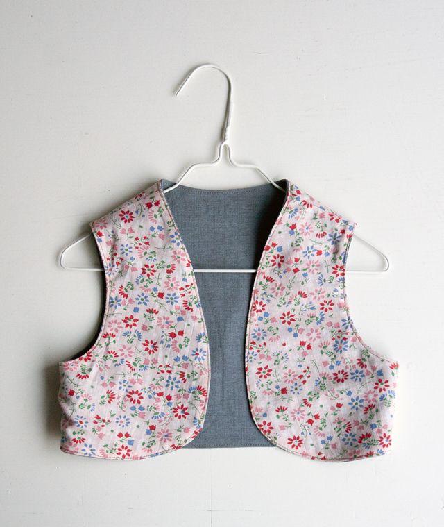 Ukkonooa Liivin Kaava Ja Ohje Reversible Vest Pattern