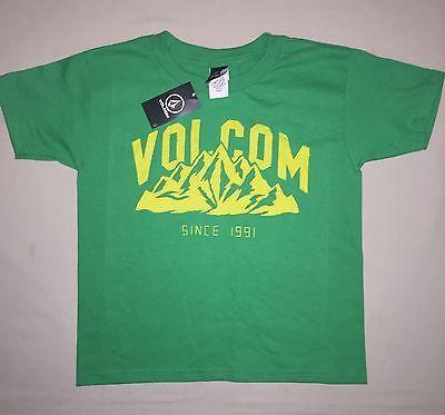 Boys size 5 Volcom Skate Shirt Green Nwt