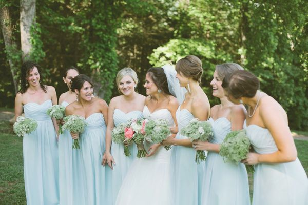 Pale Blue Bridesmaid Dresses 84