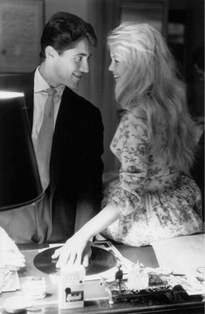 Brigitte Bardot and Sacha Distel.