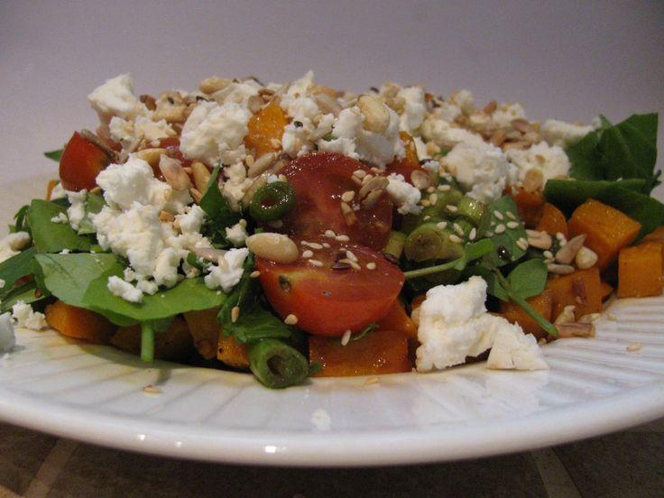Salade zoete aardappel en feta