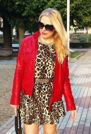 Look by thesneakylittleminx with #vestidos #leather #zara #dress #party #blanco #jacket #cuero #dresses #leopardo #leopard #red #chaquetas #chic #tops #jackets #rojo #print #coral #hot #animal #belstaff #belts #jewelry.