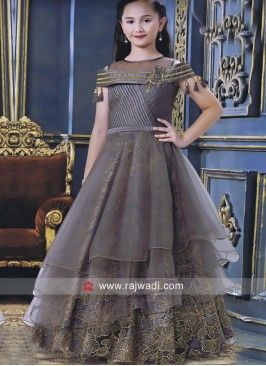 2e28643fc Satin Silk and Net Multi Layered Gown | Kids fashion in 2019 | Kids ...