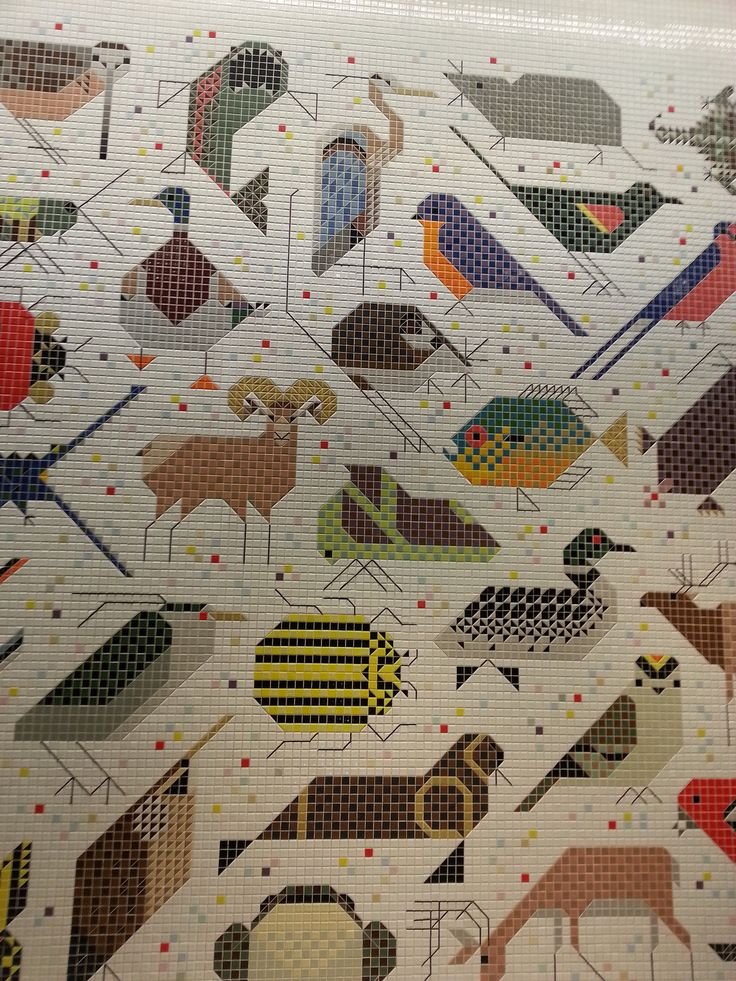 1000 images about quilts that inspire me on pinterest for Charley harper mural