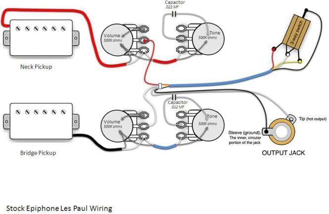 Wiring Diagram For Epiphone Les Paul Guitar