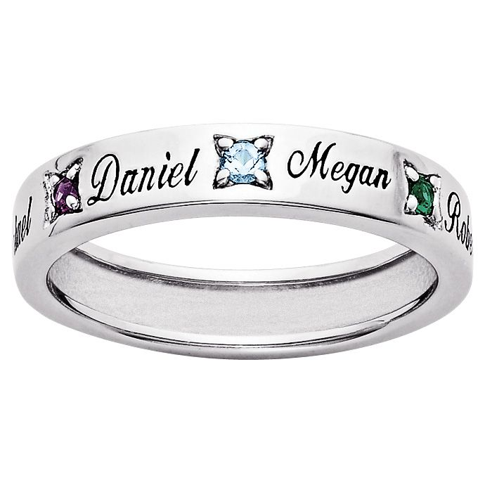 Like how it has their name engraved as well. Mothers ring... Must have one of these!!!