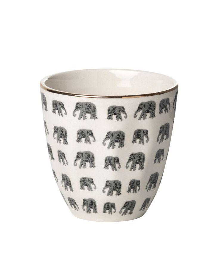 PLAIN PRINT COFFEE mugg   Mugs/cups   muggar och skålar   Glas & Porslin   Inredning   Indiska.com