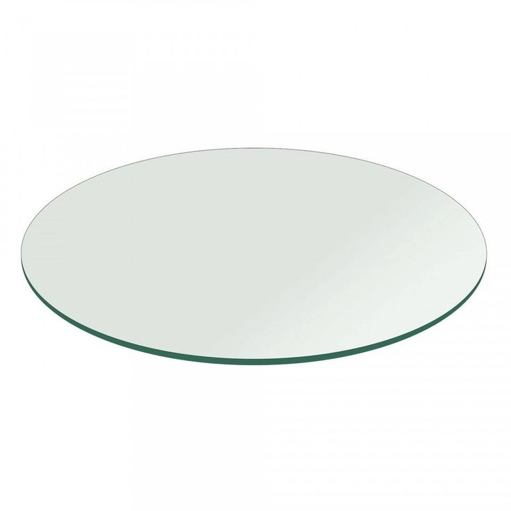 1/2 Thick Round Glass Table Top Flat Polish Tempered (48 inch round), Clear