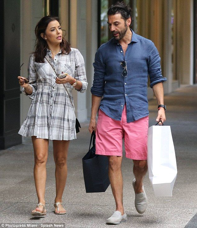 A spot of retail therapy: On Tuesday Eva Longoria indulged in a spot of shopping - another...