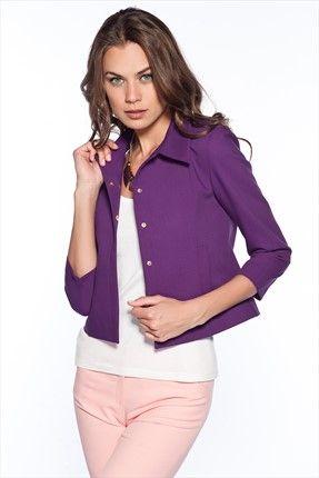 Pazar Sürprizi - Kadın Tekstil - Mor Ceket 1004461 %50 indirimle 54,99TL ile Trendyol da