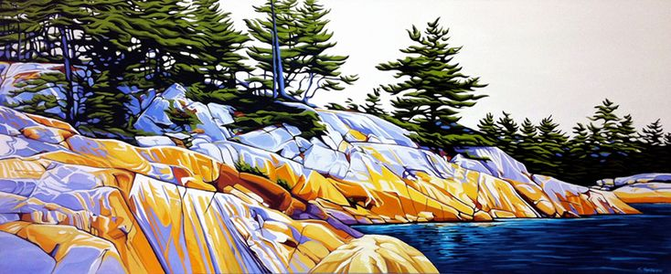 Channel Phillip Edward Island, oil on canvas, 2ft x 5ft