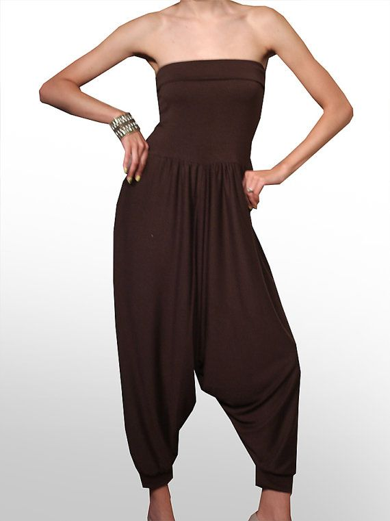 Turkish Pants. HAREM JUMPSUIT. Spa Uniform.  by Sticksandsparrows, $68.00