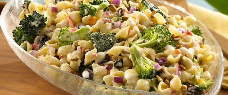 Toss together this delicious broccoli and pasta salad faster than you can stop for deli salad.