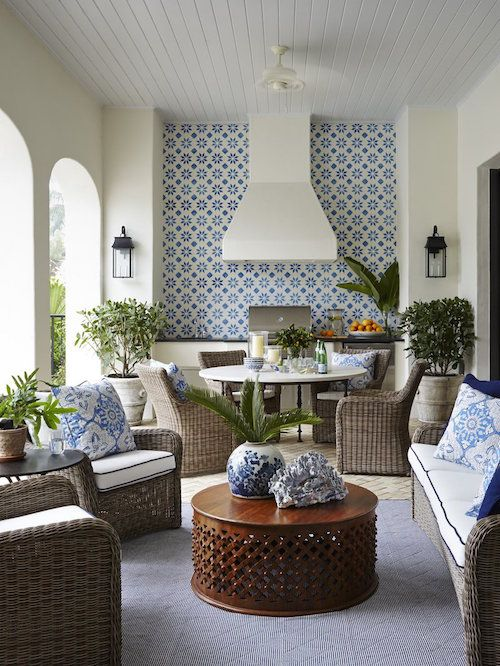 Eating meals alfresco is one of the great pleasures of warm weather, and a beautifully appointed space only heightens the experience. Get inspired by these delectable dining areas as you think about creating your own outdoor oasis.