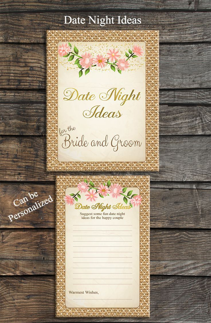words to write in wedding shower card%0A Date Night Ideas perfect vintage theme for your bridal shower