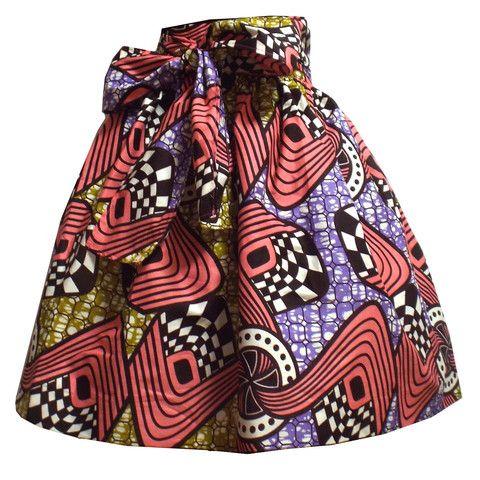 Meni African Print High Waist Full Skirt (Pink/Brown/Gold) ~African fashion, Ankara, kitenge, African women dresses, African prints, Braids, Nigerian wedding, Ghanaian fashion, African wedding ~DKK