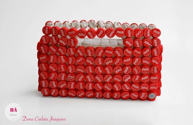 http://earth911.com/news/2012/06/01/hadehaver-portugal-handbags-made-from-plastic-bottle-caps-lids/ upcycle repurpose