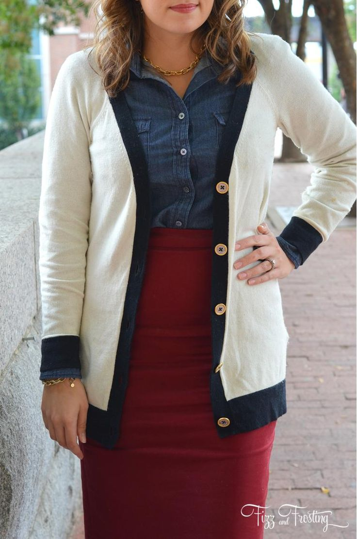 Long cardigan with a pencil skirt #officestyle #work