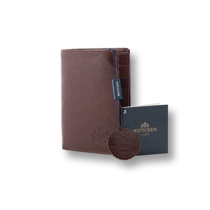 Średniej wielkości portfel męski Wittchen 21-1-008, kolekcja Italy, kolor brązowy