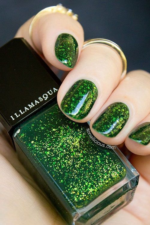 28 best Uñas verdes - Green nails images on Pinterest | Cute nails ...