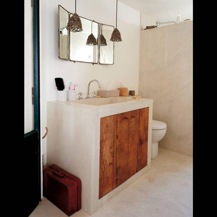 1000 id es sur le th me salle de bain en b ton sur - Salle de bain solde ...