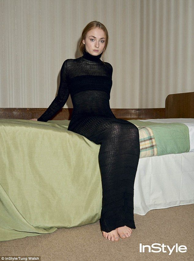 Cover girl: Sophie Turner has now opened up on the perils of growing up in the spotlight a...