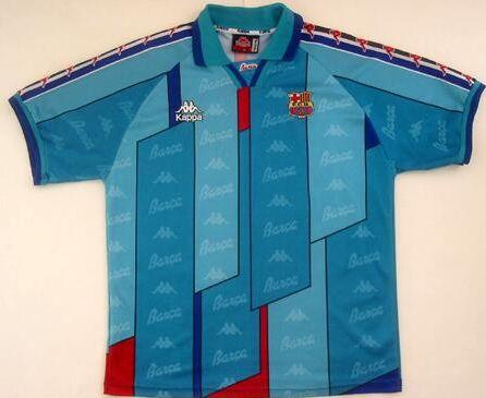 Barcelona's 1995 away kit is a shocker!