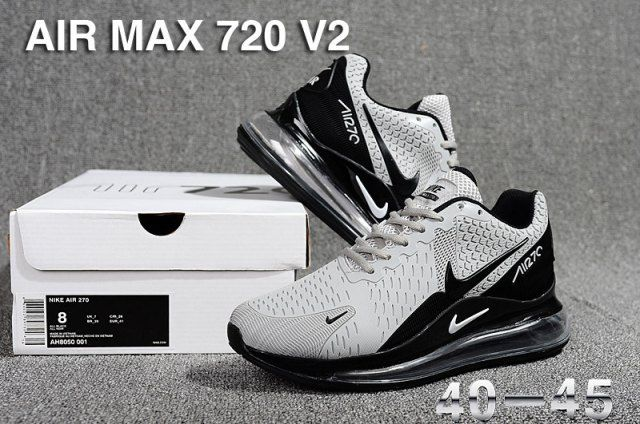 ef352cb6965 Nike Air Max 720 V2 KPU Men s Running Shoes Grey Black in 2019 ...