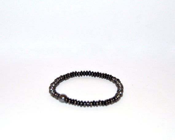 Men's Hematite bracelet, unisex hematite jewelry