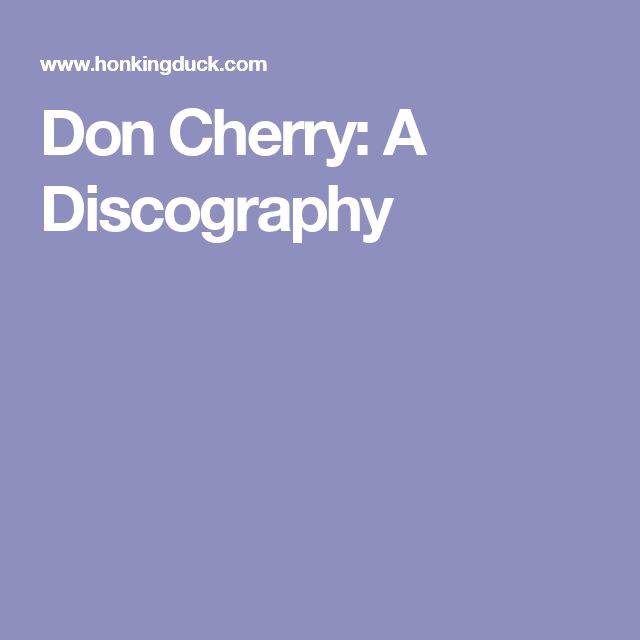 Don Cherry: A Discography