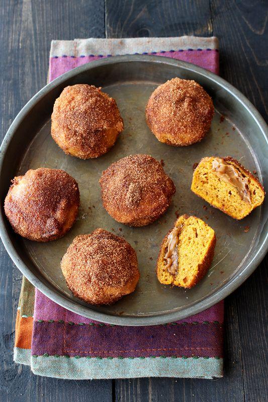 Biscoff Stuffed Pumpkin Mini Muffins from @Handle the Heat | Tessa Arias