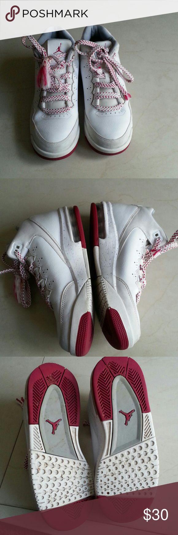Classy Jordan's for girl Pink and white Jordan Shoes Sneakers